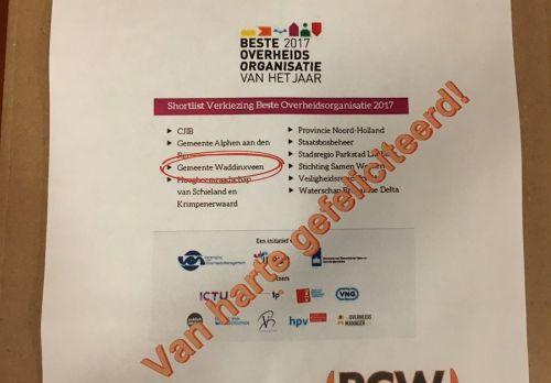 PCW trots op de hardwerkende Waddinxveense ambtenaren | Erik Segers